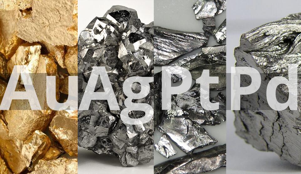 Драгоценные металлы: золото, серебро, платина, палладий